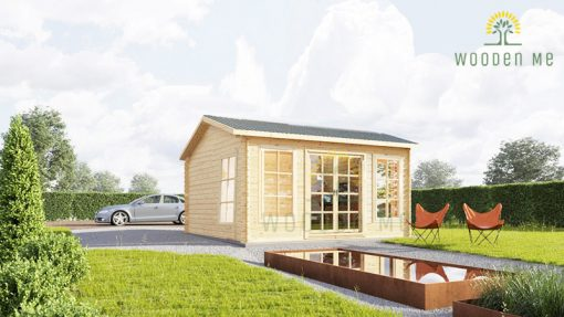 Wooden cabin POOLHOUSE (4m x 3m), 34mm/44mm