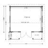Royal 25 m2, 44 mm - Floor plan