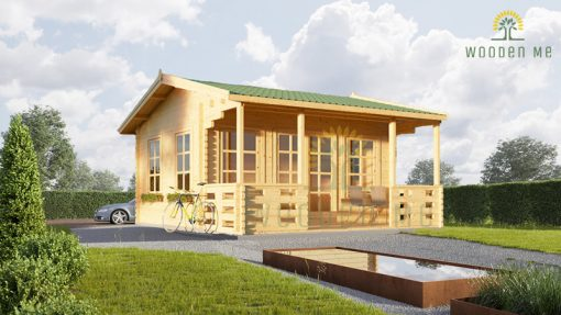 Wooden cabin Royal (5m x 5 m), 44 mm