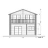 2 storey wood house,Toulouse (6m x 11m) -Front side