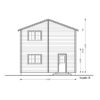 2 storey wood house,Toulouse (6m x 11m) -Back side