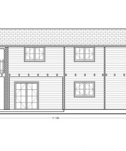 2 storey wood house,Toulouse (6m x 11m) - side