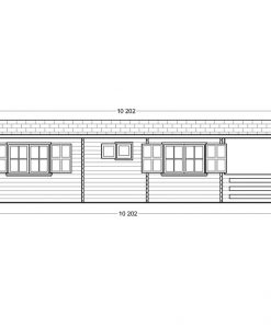 Wooden summerhouse Hymer (5.2m x 10.2m) - Right side