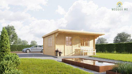 Flat roof wooden cabin DREUX