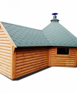 Grill cabin 16.5 m² with 2,5 m sauna extension