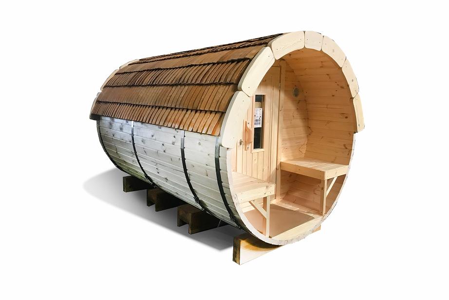 Sauna barrel 3.5 m - Pinewood