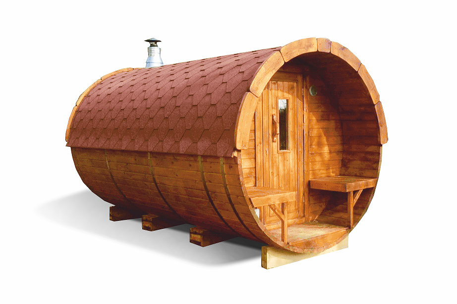 Sauna barrel 4.0 m - Pinewood