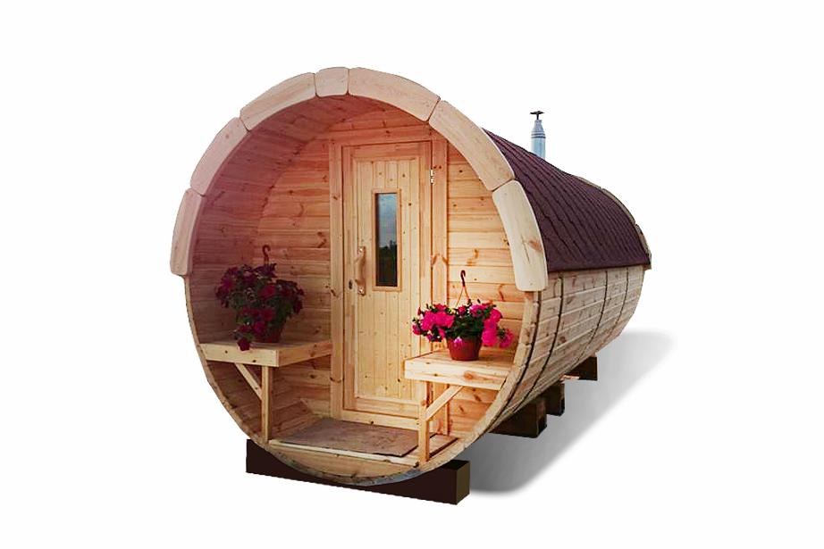 Sauna barrel 5.9 m - Pinewood
