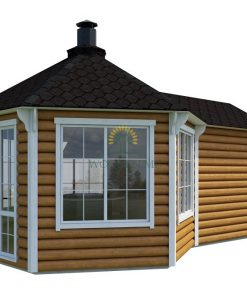 Grill pavilion 9.2 m² with 2.5 m extension