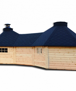 Double grill cabin 9.2 m² with 1.8 m corridor