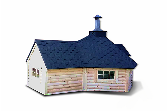 Grill cabin 9.2 m² with extension (1.8 m)