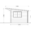 Flat roof wooden cabin DREUX - Right side