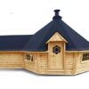 Exclusive grill cabin 16.5 m² with 2,5 m extension