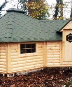 Grill cabin 16.5 m² with extension (2.5 m)