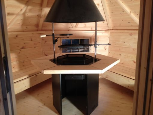 Grill of the cabin 4,5 m2 vidus