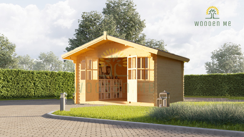 Wooden cabin OLYMP (4m x 3m), 34mm/44mm