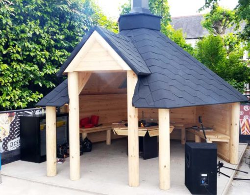 Open grill cabin 9.2 m²