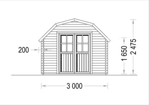 ORLANDO 9m² - Front side