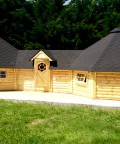 Double grill cabin 16.5 m²