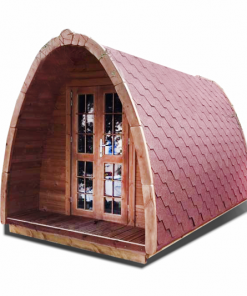 Camping Pod (cocoon) 2,4 m x 4 m- thermo wood