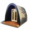 Insulated camping Pod 2,4 m x 4 m/4.8m
