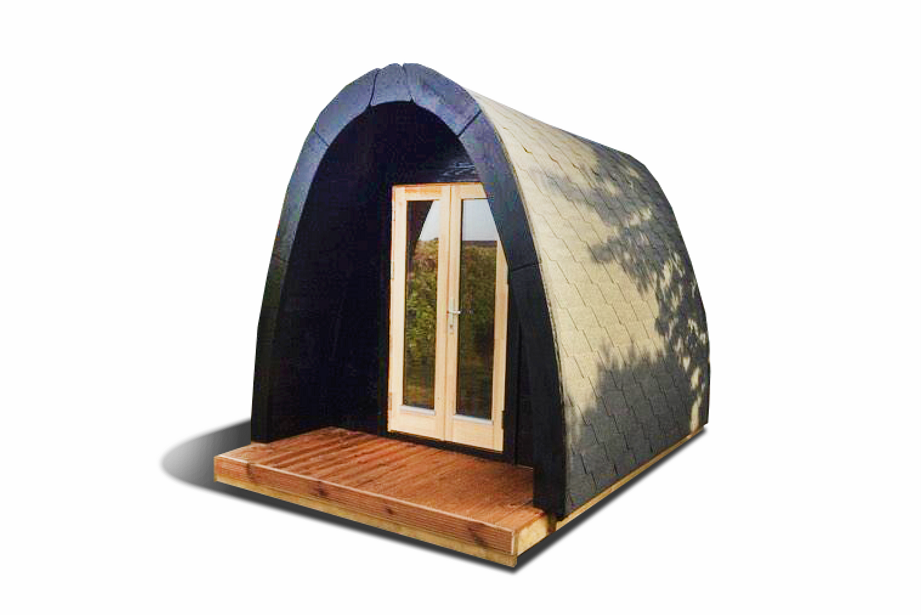 Insulated camping Pod 2,4 m x 4 m/4.8m