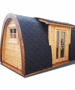 Insulated camping Pod 2.4 m x 6.0 m (with side entrance)