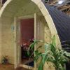 Poilsiavietės Namelis Pod (cocoon) 3 m x 4,8 m