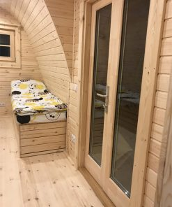 Insulated camping Pod 2.4 m x 6.6 m (with side entrance)