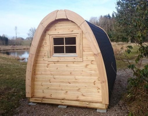 Insulated camping Pod 2,4 m x 3 m