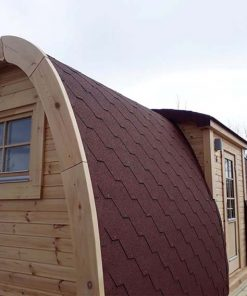 Insulated camping Pod 2.4 m x 4.8 m (with side entrance)