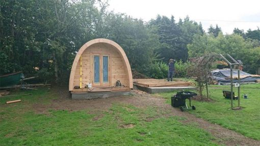 Insulated camping Pod 3 m x 4.8 m