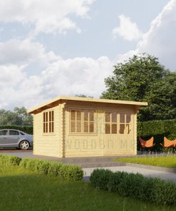 Flat roof wooden cabin Lille (4m x 3m), 34 mm