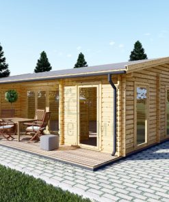 Wooden summerhouse MILA (8m x 7m)