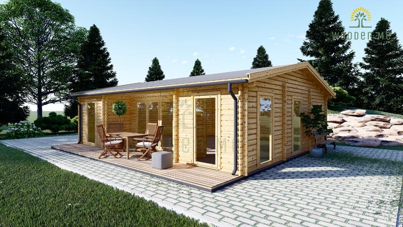 Wooden summerhouse MILA (8m x 7m)