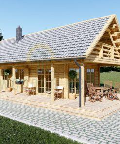 Wooden summerhouse AURA (6m x 12m)
