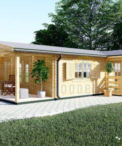 Wooden summerhouse DONNA (12.5m x 6m)