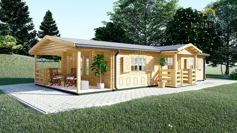 Wooden summerhouse DONNA (12.5m x 6m)