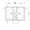 Wooden summerhouse EMMA (8m x 5.7m) - floor plan II