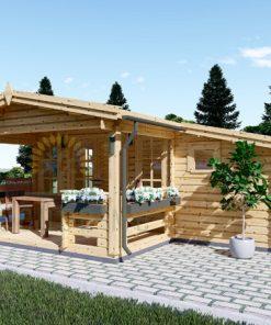 Wooden house ISLA (6m x 5m), 44mm/66mm