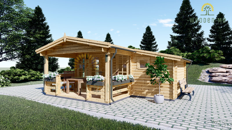 Wooden house ISLA (6m x 5m), 44mm/66mm