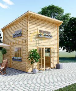 Flat roof wooden house AVIGNON (4m x 5m) + 16 m² loft