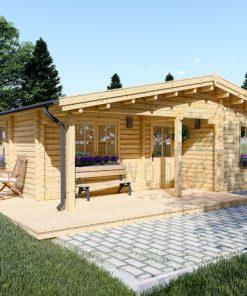 Wooden summerhouse LINDA (8m x 12m), 66mm