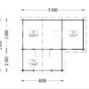 Wooden house ISLA (6m x 5m), - floor plan