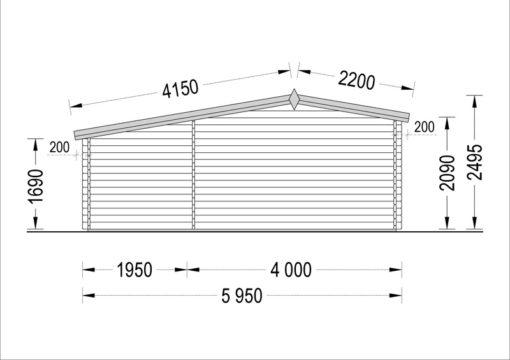 Wooden house ISLA (6m x 5m), - Back