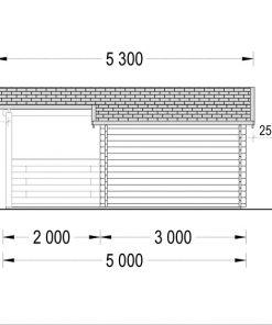 Wooden house ISLA (6m x 5m), - Left side