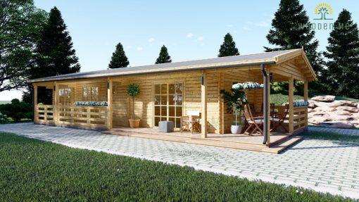 Wooden summerhouse TOSCANA (14m x 6m)