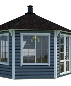 Grill pavilion 16.5 m² with 2.5 m extension