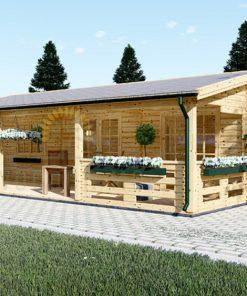 Wooden summerhouse AMELIA (9m x 6m)