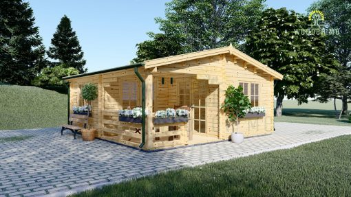 Wooden house OLIVIA (6m x 6m)
